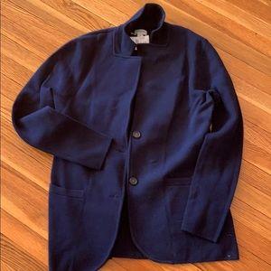 J Crew Navy Sweater Blazer